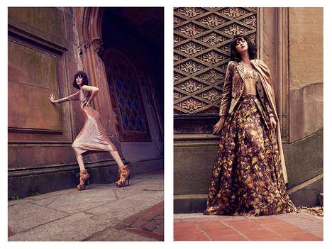 Opulent Street Style Editorials - Glassbook Magazine's Bethesda Exclusive Embodies Elegance