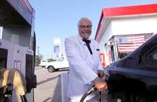 Fueling Food Campaigns - KFC Promotes Its $5 Fill Ups by Fueling People with Food and Cars with Gas