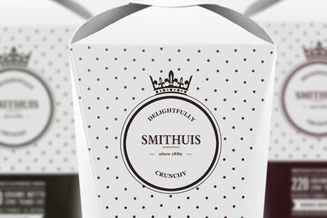 Luxe Potato Chip Branding - This Smithuis Flavoured Chips Packaging is Designed by Peter Braakhuis