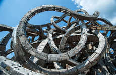 Twisting Snake Buildings - Universe Mind by Nikolay Polissky Looks Like Medusa's Head