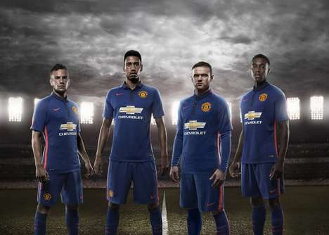 Bowtie-Adorned Jerseys - The Manchester United Third Kit Features the Chevrolet Bowtie Logo