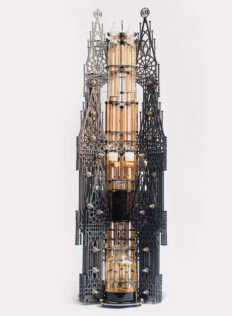 Steampunk Coffee Machines - Gothicism by Dutch Lab is a Laser Cut Design