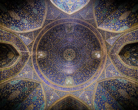 Religious Ceiling Photography - Mohammad Domiri Showcases Iranian Architecture