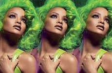 Edgy Superstar Cosmetics - The Latest MAC x Rihanna Viva Glam Collection is Dramatically Bold