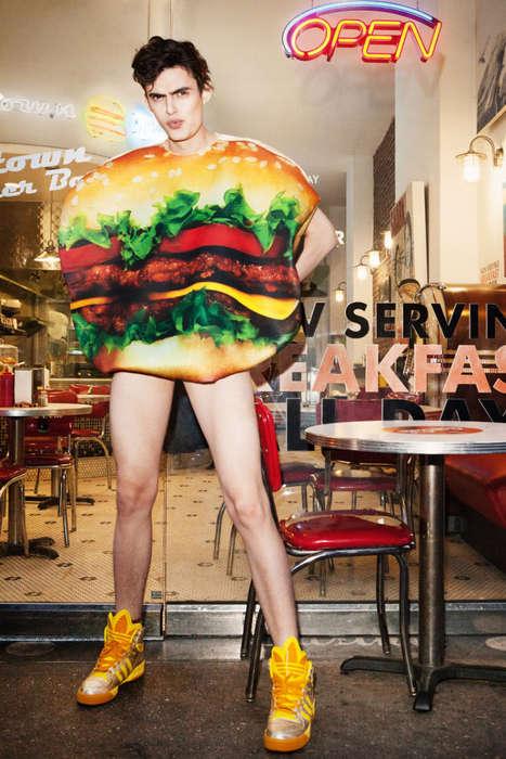 Fast Food Fanatic Editorials - Emilie Elizabeth's Michael Freeby Series Celebrates Salty Snacks