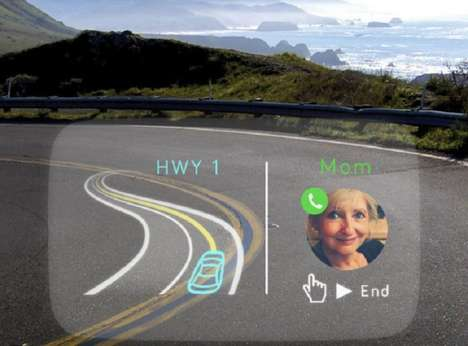 High-Tech Windshield Displays - The Navdy Heads-Up Display Lets You Keep Your Eyes On the Road