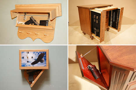 20 Secret Compartment Furniture Finds - From Gun-Concealing Furniture to Secret Storage Surfaces