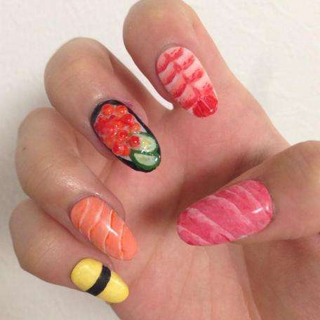 Sushi Nail Art - This Tasty Food Nail Art Redefines the Term 'Finger Food'