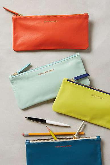 Parisian Pencil Cases - Anthropologie's Parisienne Stationary Accessories are Classically Elegant