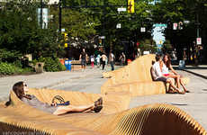 Interactive Seating Sculptures - Vancouver's Urban Reef Pedestrian Space Encourages Active Lifestyle