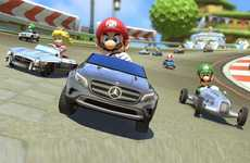 Opulent Cartoon Race Cars - Mercedes-Benz Mario Kart Cars Let You Race Luxury Cars on Rainbow Road