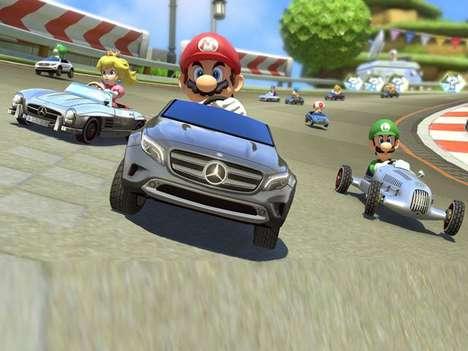 Opulent Cartoon Race Cars - Mercedes-Benz Mario Kart Cars Let You Race Luxury Cars on Rainbow Road