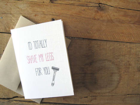 Sacrificial Romance Cards - This Funny Greeting Card Expresses How Far You'll Go for Mr. Right