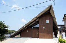 All-Encompassing Roof Designs - A House in Japan by 'y+M Design Office' Prepares for Precipitation