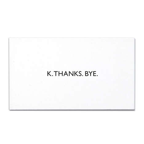 Succinct Thank You Cards - This Thank You Card Keeps it Simplistic