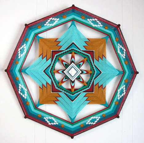DIY Yarn Mandalas - Jay Mohler's Mandala Art is Designed to Ward Off Unwanted Spirits