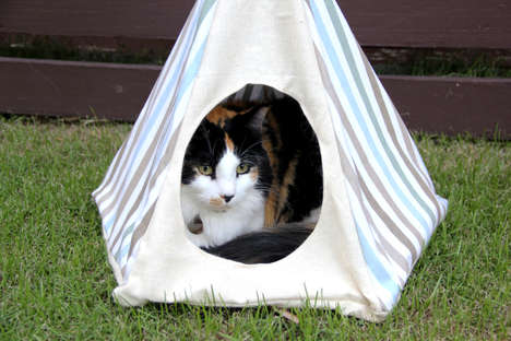 DIY Feline Tents - This Crafty Teepee Project is a Fun Way to Spoil Your Cat
