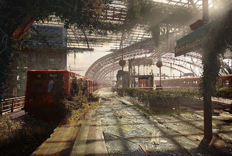Post-Apocalyptic Graphics - These Digital Paintings Imagine Famous Landmarks Taken Over by Fungus