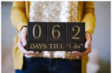 Matrimony Awaiting Calendars - Etsy's Wedding Countdown Blocks Mark The Days Before You Say I Do