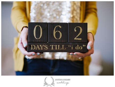 Matrimony Awaiting Calendars - Etsy's Wedding Countdown Blocks Mark The Days Before You Say I Do
