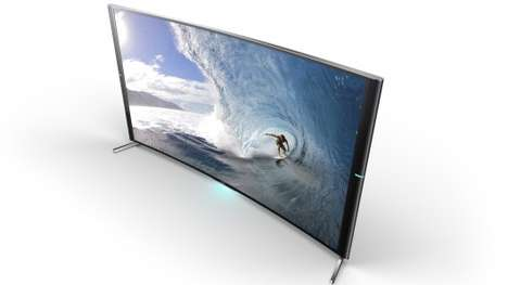 Gargantuan Curved TVs - The Sony Bravia S90 Ultra HD TV Blends Top-Notch Video and Audio