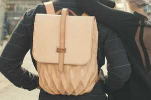 Steven Enns' Leather Backpack Design Expands and Contracts Naturally