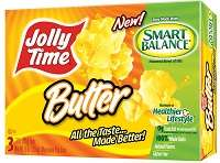 Calorie-Cutting Microwave Popcorn - The Jolly Time Microwave Popcorn Uses a Healthy Blend of Oils
