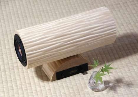 Healing Wooden Speakers - The Nenrin Mini Wooden Speaker is Made from 30-Year-Old Cedar