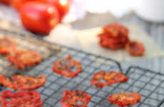 Healthy Vegetable Chips - Running to the Kitchen's Tomato Chips are Sliced, Salted and Microwaved