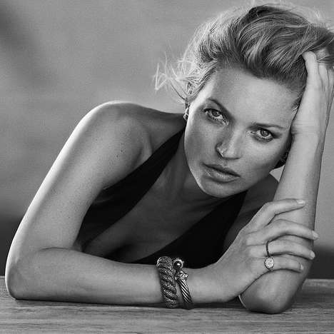Seaside Jewelry Campaigns - Kate Moss Returns to Pose for the Latest David Yurman Jewelry Line