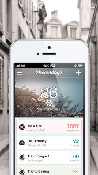 Customizable Countdown Apps - The Dreamdays Mobile App Helps You Count Down to Big Events