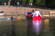 Shark Scare Pranks - Discovery Channel's Shark in the Lake Prank Alarms Unsuspecting Boaters