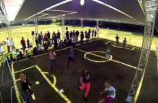 Sun-Made Soccer Fields - Cancerfonden's Play in the Shade Campaign Features a Uniquely Shaded Field
