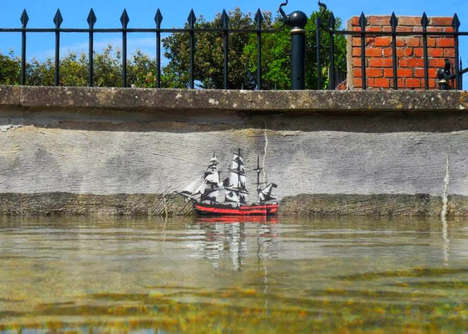 Perfectly Placed Street Art - JPS' City Street Art Pays Close Attention to Useful Elements