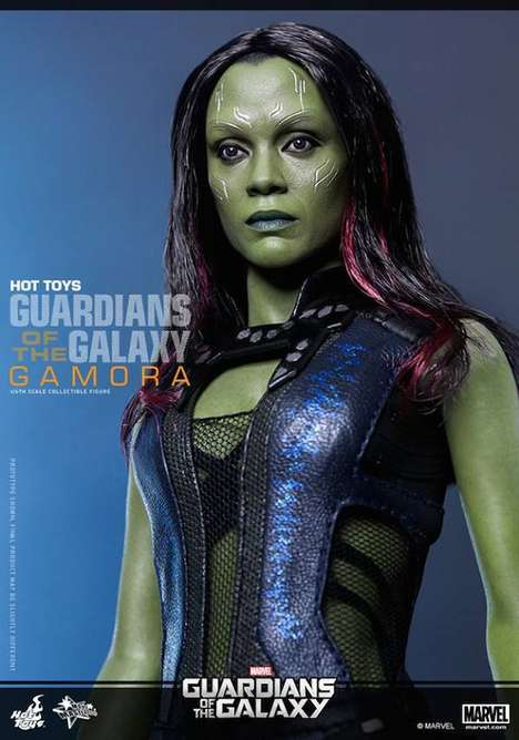 Galactic Superhero Figurines - The Gamora Action Figure Looks Identical to Actress Zoe Saldana