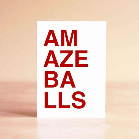 Profane Greeting Cards - This Amazeballs Thank-You Card Design Congratulates Using Hip Lingo
