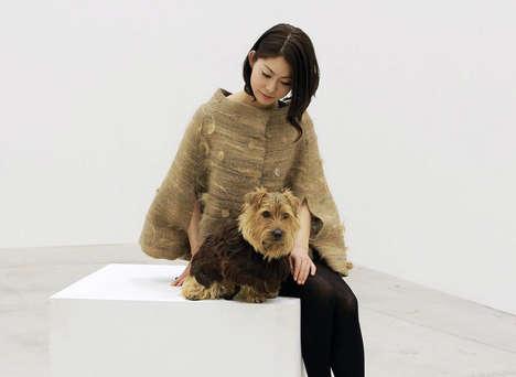Dog Hair Coats - Aki Inomata Switches Hair with Her Pet