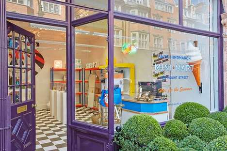 Food-Inspired Fashion Shops - Anya Hindmarch's Fashion Pop Up Presents Luxury Goods Like Groceries