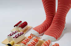Kitschy Sushi Socks - These Sock Designs Look Like Edible Pieces of Rice and Fish