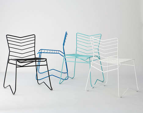 Stackable Wire Chairs - The KAI Recliners by Daniel Lau are Made with Lightweight Metallic Design