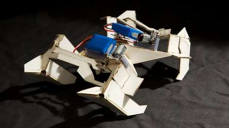 Origami Transformer Robots - This Origami-Inspired Robot Can Assemble Itself and Scuttle Around