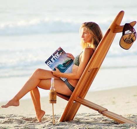 Surfboard Beach Chairs - The Bombwatcher Surfboard Chairs are Perfect for Relaxing at the Beach