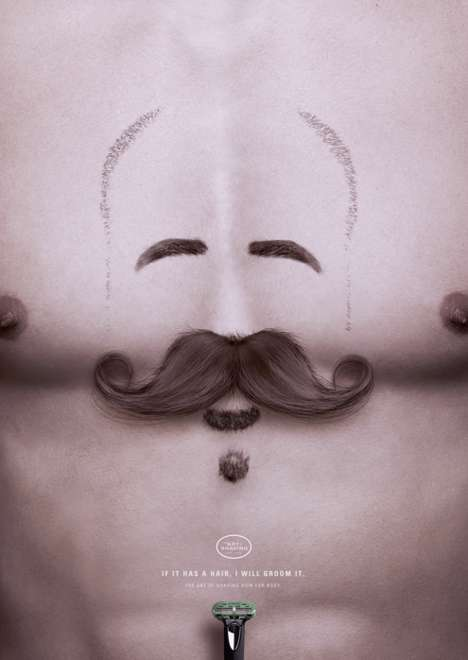 Surreal Manscaping Ads - The Art of Shaving Campaign Promotes Its Latest Body Grooming Kit