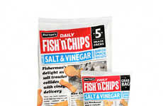Newspaper Snack Packaging - Burton's Snack Pouch Packaging is Styled Like a Fresh News Delivery