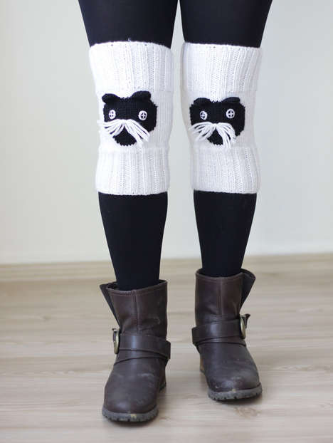 Crocheted Cat Cozies - These Knitted Leg Warmers Are Inspired by Furry Feline Friends