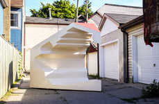 Irregular Furniture Installations - 'Flipping Properties' is a Piece of Art Located in Toronto
