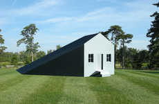 Shadow-Incorporated Abodes - The Shadow House by Michael Jantzen Highlights Unexpected Areas