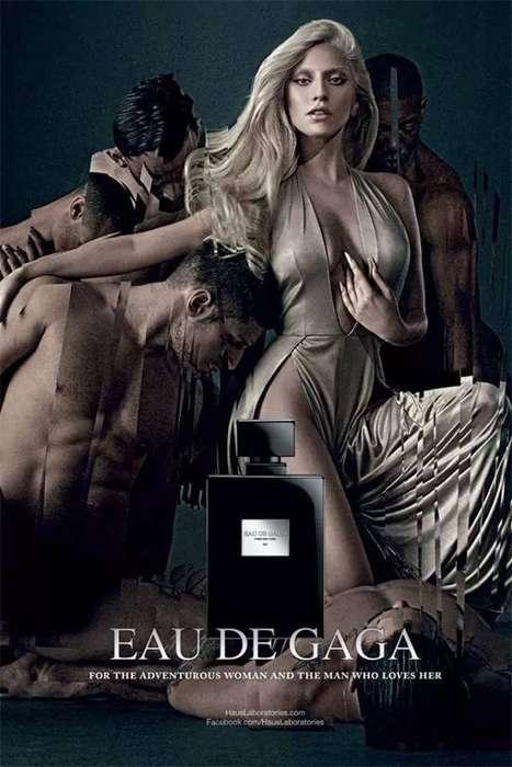 Songstress Perfume Ads - Lady Gaga Releases Her Grecian Eau de Gaga Fragrance Campaign