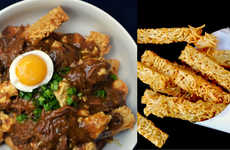 Peculiar Ramen Poutines - This Cultural Hybrid Poutine Cleverly Replaces Fries with Noodle Sticks