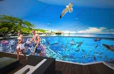 Virtual Reality Swimming Pools - The Swimarium Allows You To Swim Alongside Virtual 3D Sharks